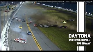 The 'Big One' takes out the leaders at Daytona