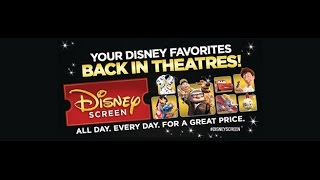 Disney Screen - At Participating Cinemark Theatres near you!