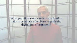 How should you establish a fact base to guide the digital strategy?
