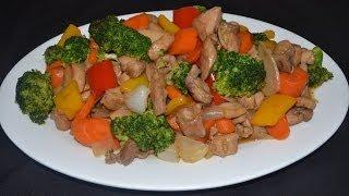 Rico Pollo con brocoli - Una receta de  Comida China