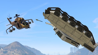 UPSIDE DOWN FLYING TANK KILL! (GTA 5 Funny Moments)