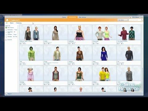 TSR The Sims 4 CAS Demo