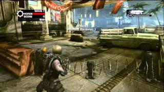 (Full Game)  Let's Play -  Gears of War 3 Horde Mode