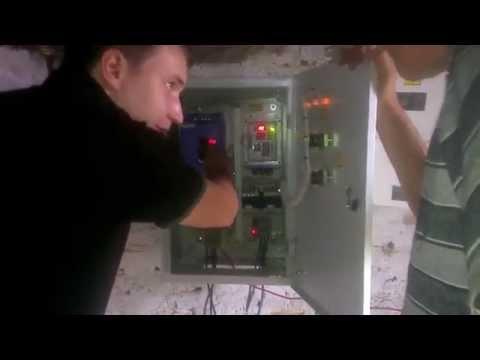 Запуск станции с частотным преобразователем Invertek вместо башни Рожновского подача воды