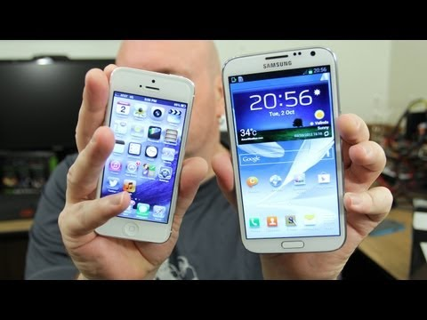 Smartphones Smackdown: Apple iPhone 5 vs Samsung Galaxy Note 2!