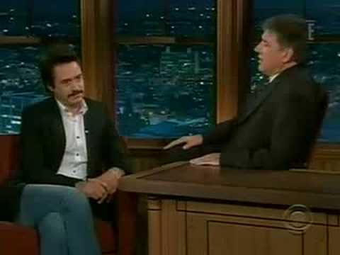 Robert Downey Jr. On The Late Late Show