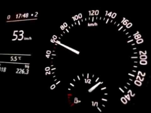 Skoda Rapid 1.6 TDI 77kw Разгон [0-140 km/h]