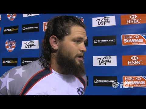 Eagle Danny Barrett post-game vs. Canada - USA Sevens