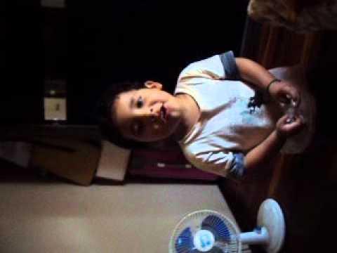 lucas de 3 anos, cantando michel telo ,chu e cha muito bom!