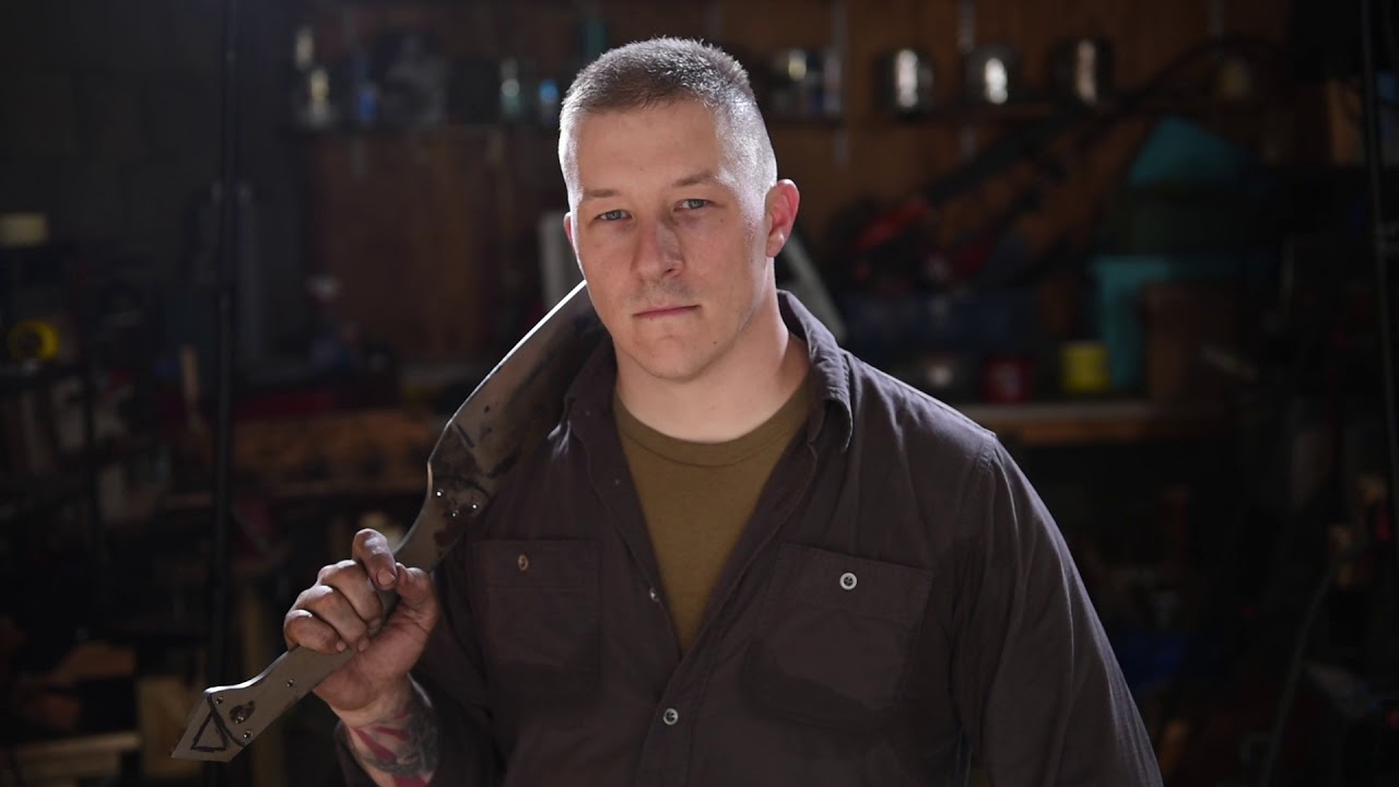 "Capt. Jonathon Nagel is the operations officer for the 336th Military Police Battalion, headquartered in Pittsburgh. He is also a part-time blacksmith who has been forging metal for the past five years, making blades and other steelwork. In May 2018, Nagel was featured on a Memorial Day special episode of ""Forged in Fire,"" in which he competed against other military service members who are also blacksmiths to make a combat knife and a naval cutlass. In this video, Nagel talks about his philosophy of blacksmithing and how it relates to his military service in the U.S. Army Reserve. (U.S. Army Reserve video by Master Sgt. Michel Sauret)"