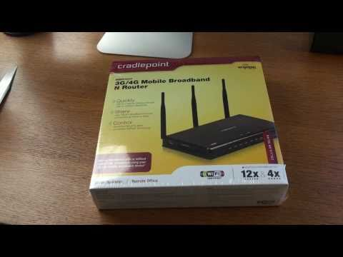 0 Cradlepoint 3G/4G Mobile Broadband Router Unboxing