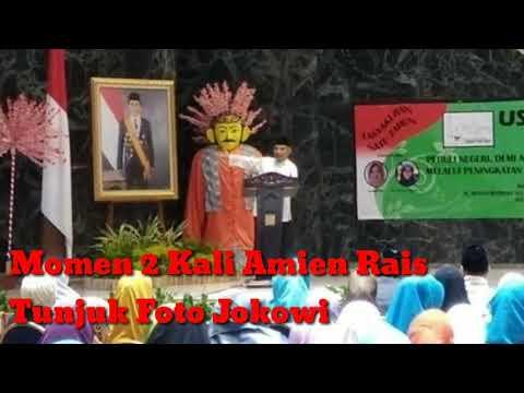 Amin Rais Tunjuk Foto Jokowi - Detiknews