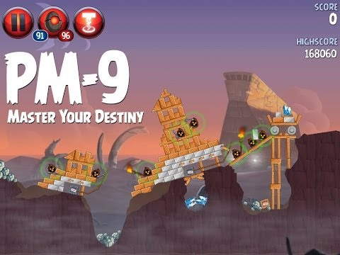 Angry Birds Star Wars 2 Level PM-9 Master Your Destiny 3 Star Walkthrough