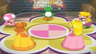 Mario Party 7 - 8 Player Ice Battle - Yoshi Mario Luigi Wario Peach Daisy All Mini Games(Master CPU)