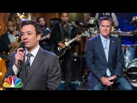 """Slow Jam The News"" with Mitt Romney (Late Night with Jimmy Fallon)"