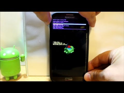 Galaxy Note 2 Stock android recovery info