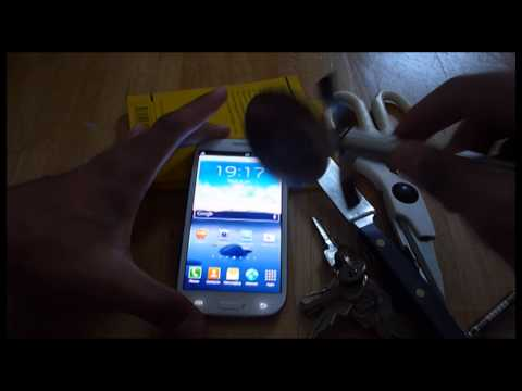 Samsung Galaxy SIII - Screen Scratch Test Hardcore - Gorilla Glass 2