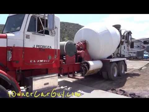 Concrete Truck Pouring Cement Mixing Heavy Duty Semi Work Trucks Ready Mix Pouring Mixer Pump 1/2