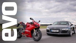 Audi R8 V10 v Ducati 1199 Panigale R | evo BATTLE