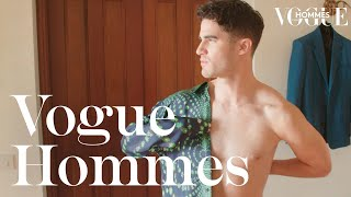 Darren Criss on his fashion taboo and his Italian fantasy I Getting ready I Vogue Hommes