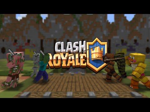 FNAF vs Mobs: Clash Royale Challenge - Monster School (Five Nights At Freddy's)