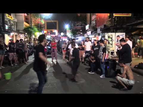 Breakdancing In The Khao San Road, Bangkok, Thailand