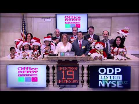 Office Depot Foundation Celebrates Commitment to Caring rings the NYSE Closing Bell