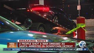 Detroit Religious Hate Crime Victim Controls Bio Unit Territory-Black Santa Dusts Up Mouthy Semites