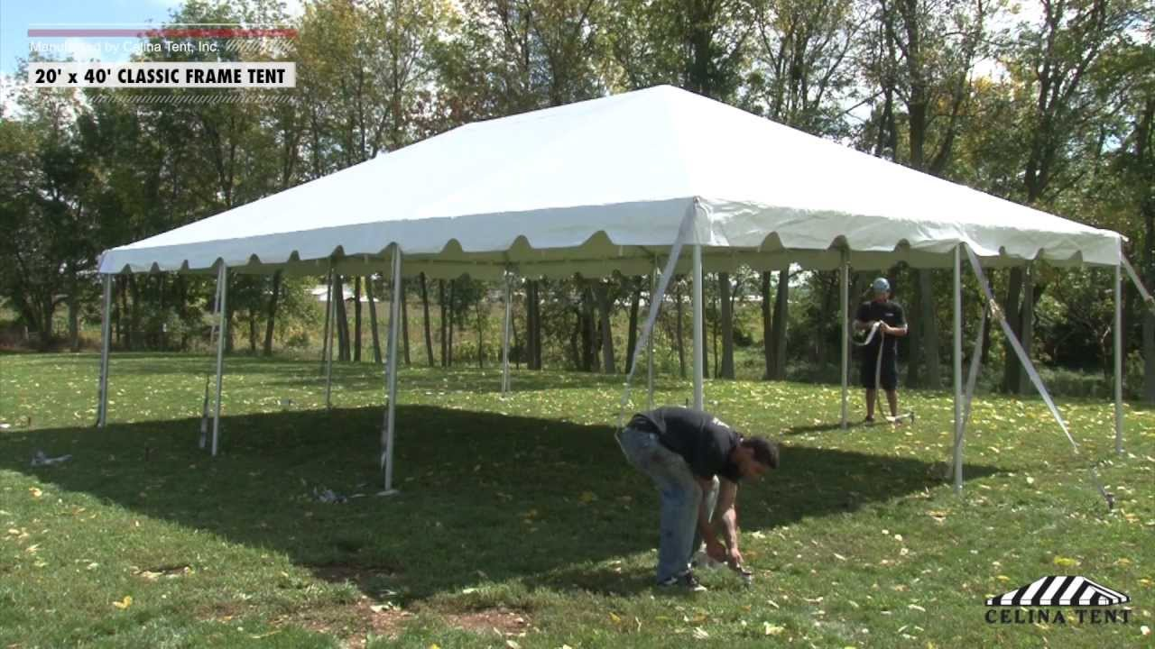 20 x 40 classic frame tent installation procedure youtube. Black Bedroom Furniture Sets. Home Design Ideas