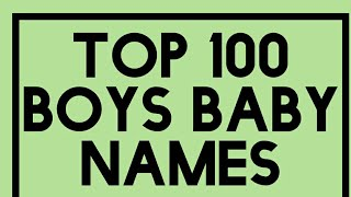 Top 100 Baby Names for Boys Unique List 2018