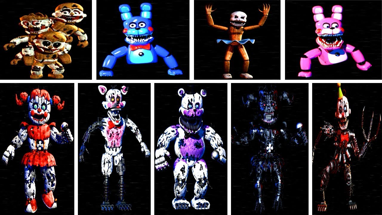 Baby's Nightmare Circus: All Animatronics & All Jumpscares (EXTRAS)