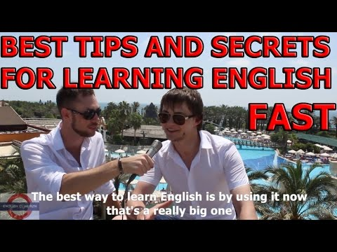 BEST TIPS AND SECRETS FOR LEARNING ENGLISH REALLY FAST!!!must watch!