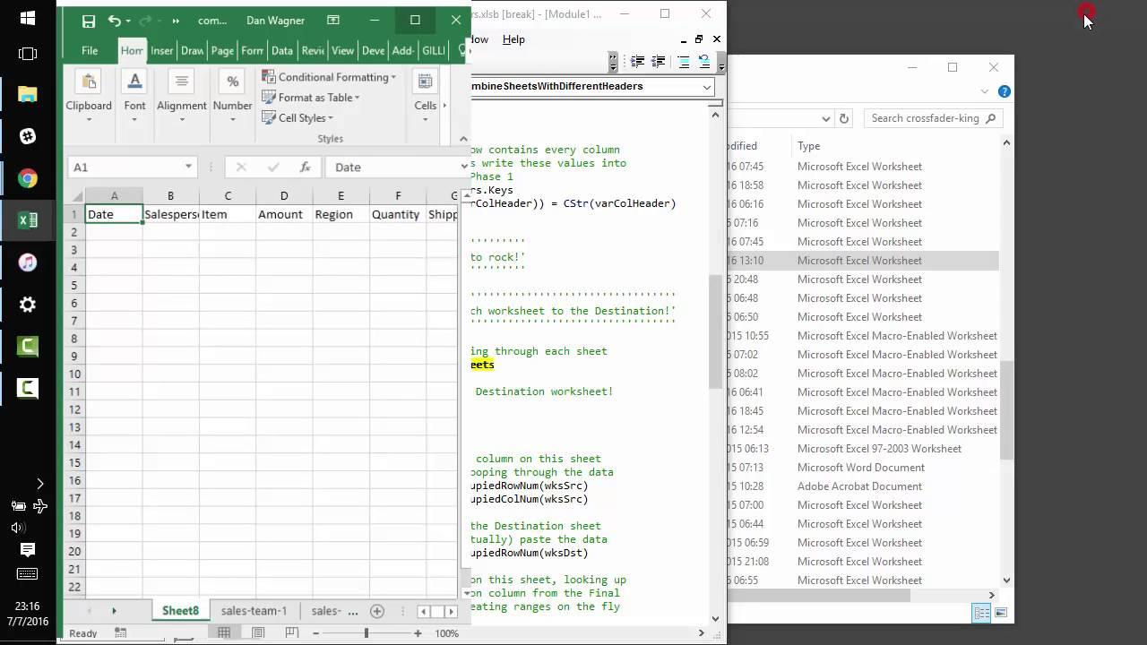 Combine multiple workbooks into one macro