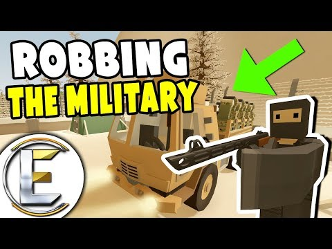 ROBBING THE MILITARY - Unturned Roleplay Cops And Robbers (Car Thief Robs A Military Truck) thumbnail