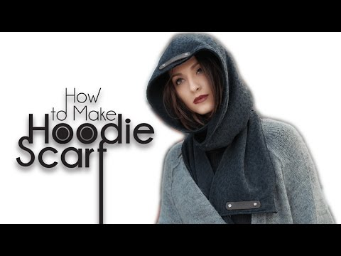 Easy DIY Sew From Scratch | Hoodie Scarf - YouTube