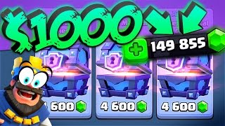 CLASH ROYALE $1,000 Super Magical Chest Opening!