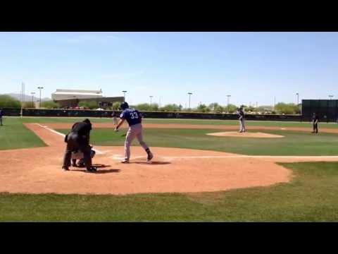 Joey Gallo 3.26.14 (BEWARE: windy mic)