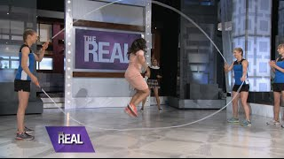 Tamera Shows Off Her Double Dutch Skills