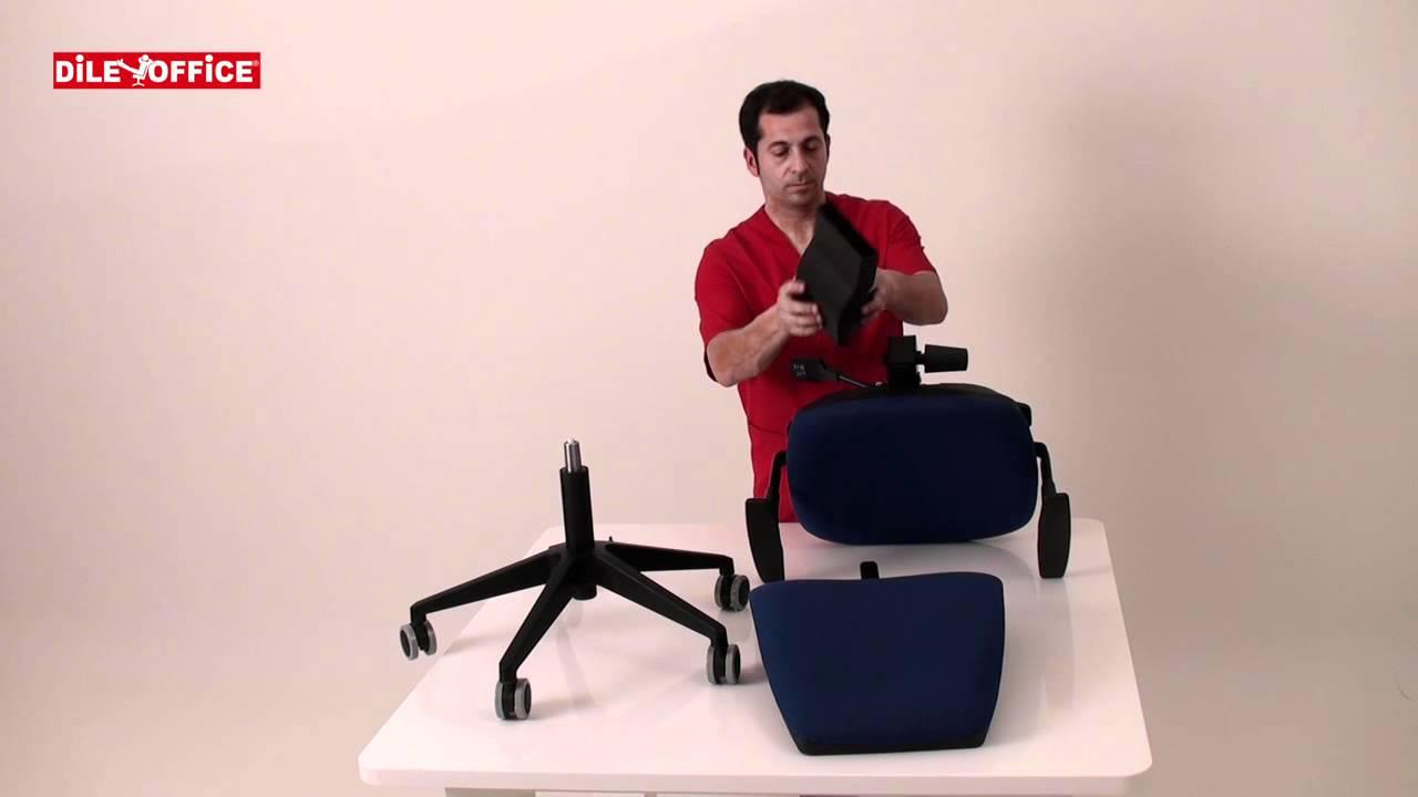 C mo montar una silla de oficina adapta youtube for Como es una oficina