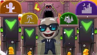 Cartoon Game For Kids And Chilfren - Talking Tom Gold Run Vs Subway Surfers Color