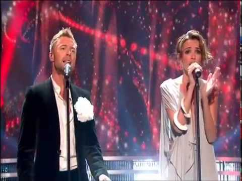 Nadine performs with Boyzone on 'A Tribute to Stephen Gately'