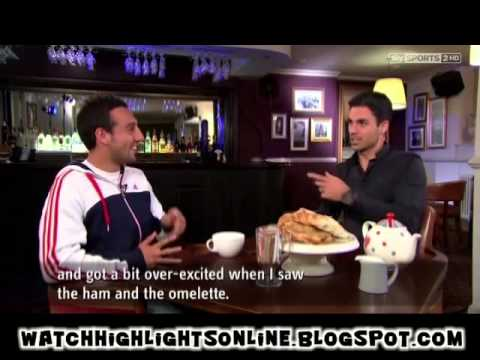Mikel Arteta interviewing Santi Cazorla Funny interview Part One Arsenal