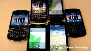 ALL 6 BRAND NEW Blackberry OS7 Devices - HD