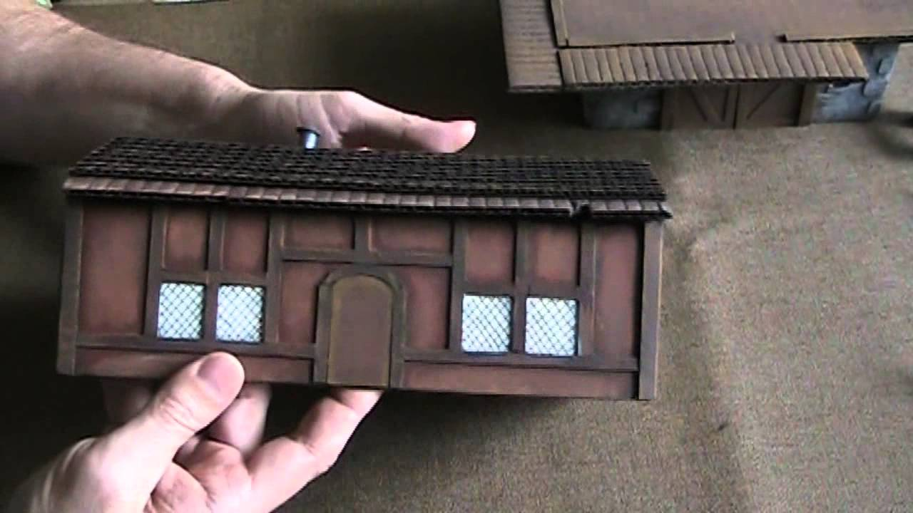 Make 3d Cardboard Buildings With 2 5d Tiles For D Amp D The