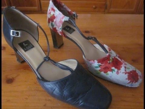 Zapatos reciclados youtube - Manualidades con cd viejos ...