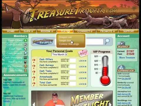 Make Money Online With Treasure Trooper