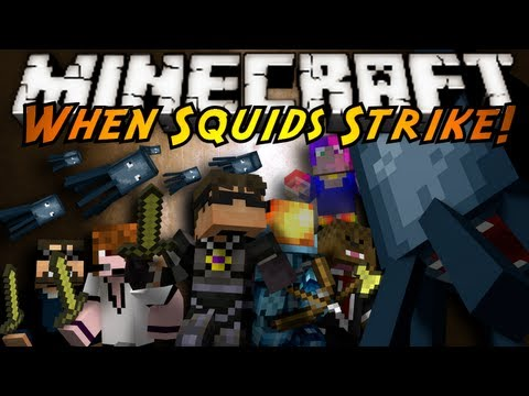 Minecraft: WHEN SQUIDS STRIKE!