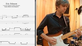 Eric Johnson - Lick from signature Fender strat demo - Best licks (animated tab - Fast & slow)