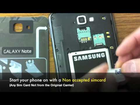 Samsung Galaxy Note SGH-i717 4G LTE from Telus & Bell by Unlock Code