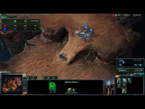 Starcraft 2: Shew v JF PvP on Blistering Sands part 1